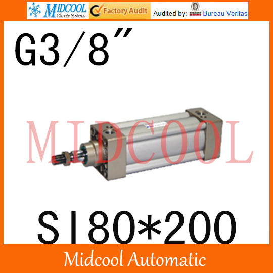 SI series ISO6431Standard cylinder SI80*200 port 3/8 bore 80mm Adjustable cylinder si series iso6431standard cylinder si160 200 port 3 4 bore 160mm adjustable cylinder