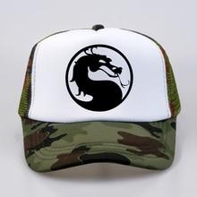 summer Men Women mortal kombat  baseball cap High Quality print letter Cool Summer Baseball Mesh Net Trucker Cap Dad Hat