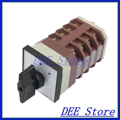 AC 380V 16A Latching 16 Terminals Two Position Cam Combination Changeover Switch 660v ui 10a ith 8 terminals rotary cam universal changeover combination switch