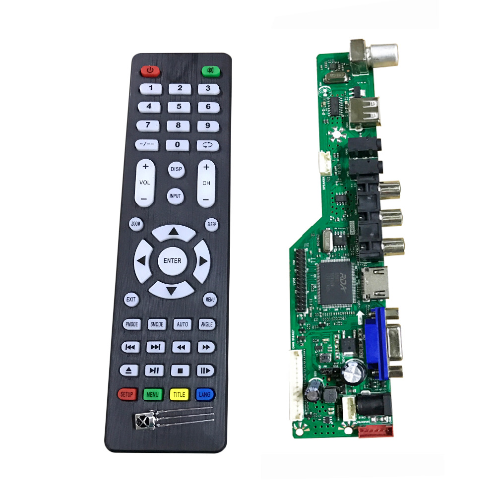 New version 8501 Universal LCD TV Controller driver Board v56 TV+VGA+AV+HDMI+USB 8.9-27inch