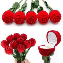 Romantic Rose Wedding Ring Jewelry Box