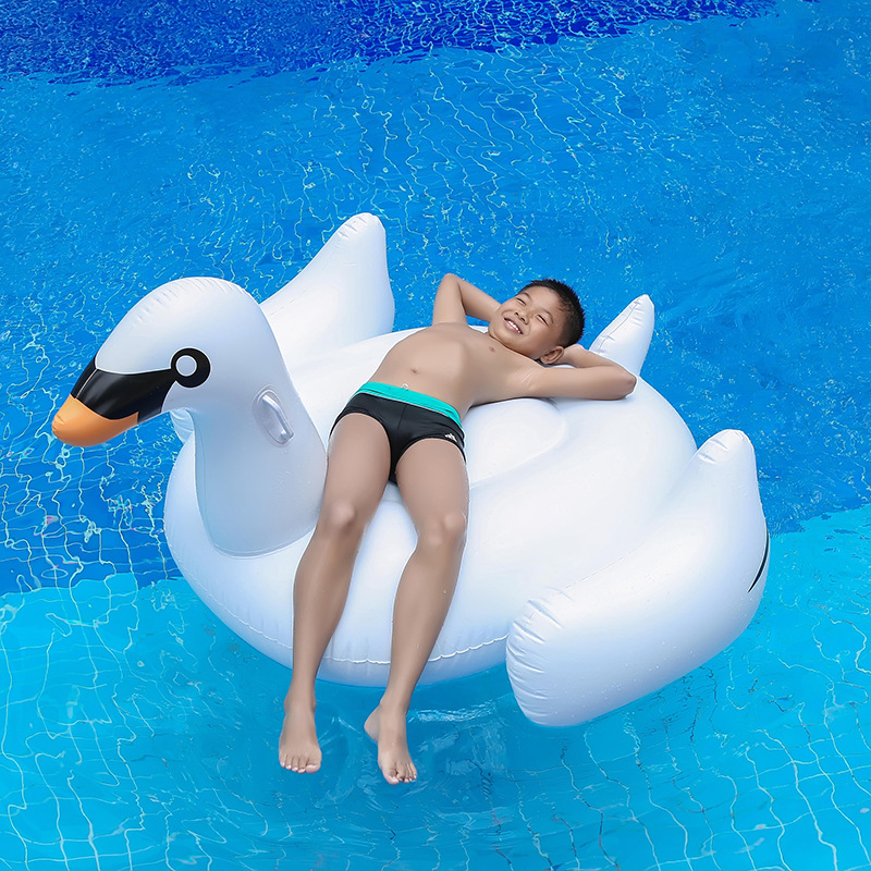 150CM Giant Swan Swimming Ring Inflatable Ride On Pool Toy Float inflatable swan pool Swim Ring Holiday Water Fun Pool Toys