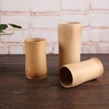 Nuevos vasos de cerveza vaso de café Natural bambú taza de té aislado leche vidrio vino cocina servicio de té chino madera Vintage