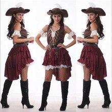2016 Nuevas Mujeres Sexy traje de Pirata de alta calidad Carnaval rendimiento rendimiento Trajes de Cosplay Del Partido de Halloween Para Adultos