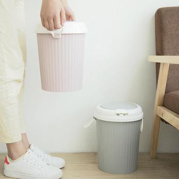 Yfashion المحمولة حاوية القمامة سلة القمامة سوينغ غطاء المنزل الحمام المطبخ سلة النفايات