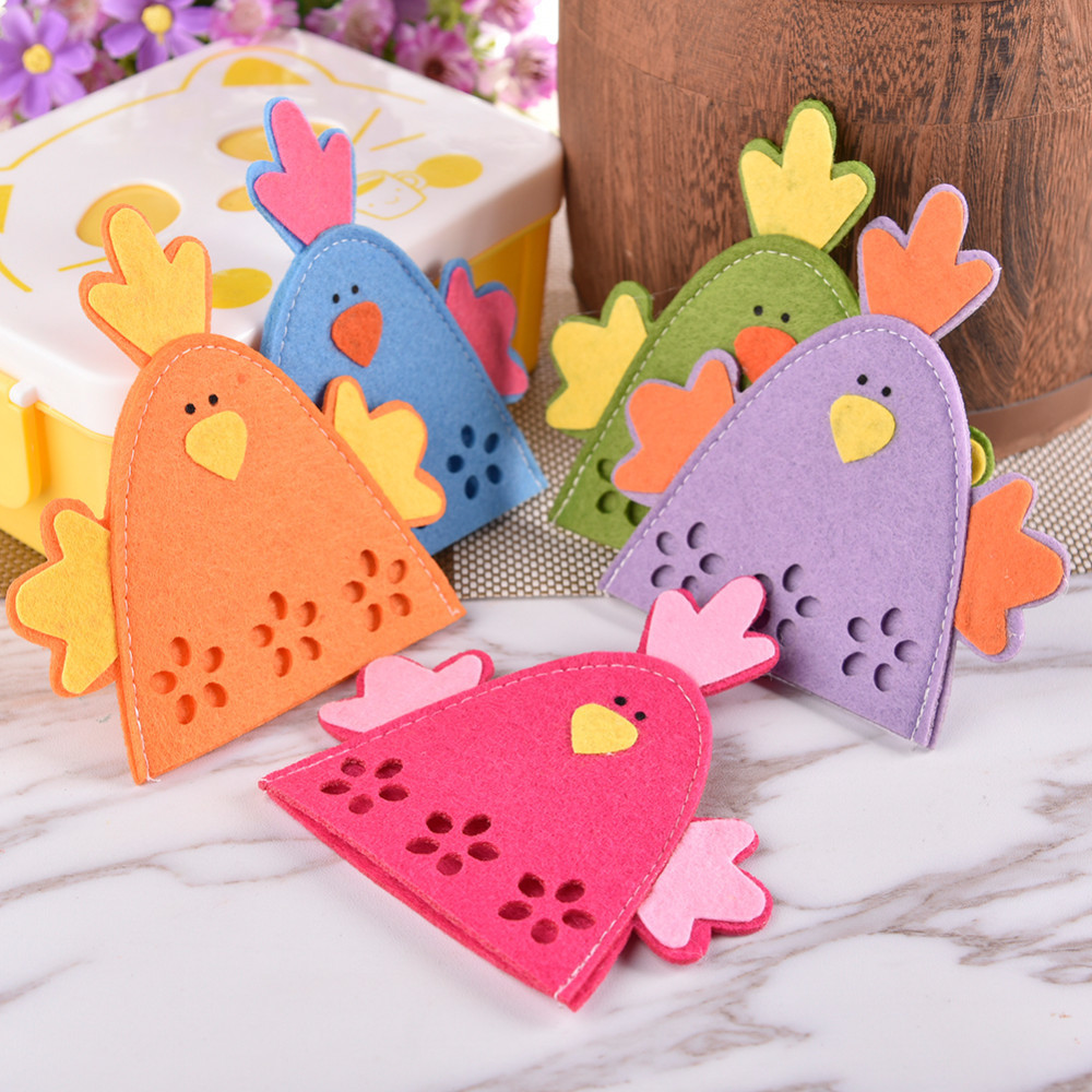 4pcs Lot Easter Chicken Egg Covers Egg Decoration Colorful Chick