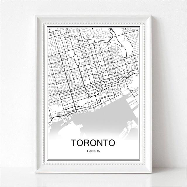 Toronto canada world city map print poster abstract coated paper bar toronto canada world city map print poster abstract coated paper bar cafe pub living room home gumiabroncs Choice Image