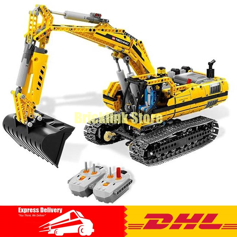 LEPIN 20007 technic series 1123pcs excavator Model Building blocks Bricks Compatible Toy Christmas Gift 8043 Educational Car new lepin 21003 series city car beetle model educational building blocks compatible 10252 blue technic children toy gift
