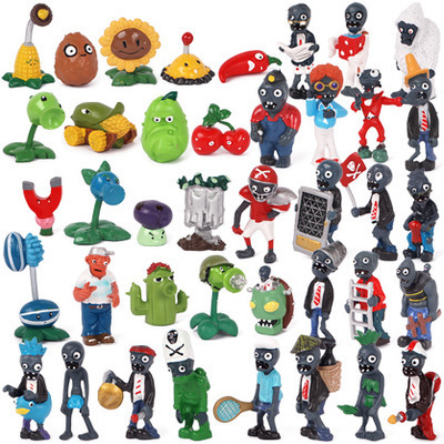 Plants Vs Zombies Action Figures All Plant + Zombies Collection Figures Toys Gifts 40pcs/set 2.5-6.5cm