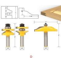 Brand New Wood Cutter 3pcs Raised Panel Cabinet Door Router Bit Set 1 2 Shank Carbide