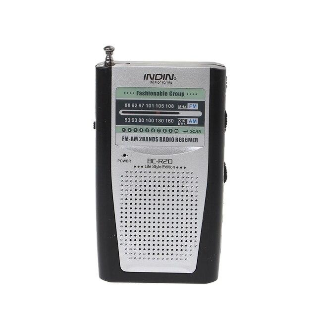 נייד מיני Slim רדיו 2 Band AM FM העולם מקלט DC 3V טלסקופי אנטנה BC R20