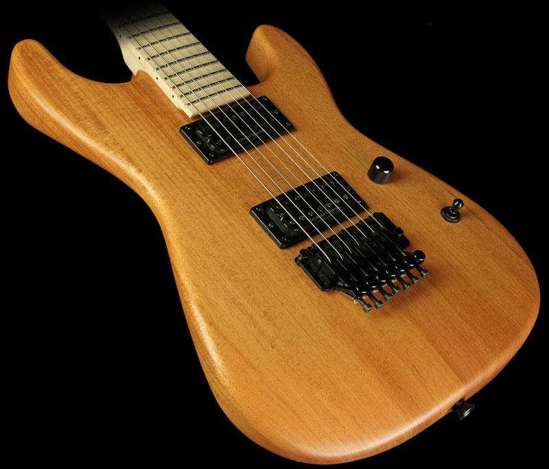 GC Custom Shop NAMM One Off 7 String Mahogany San Dimas Electric Guitar Natural