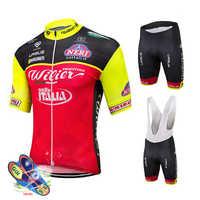 Pro Bike Team Kurzarm Radfahren Jersey Atmungs Quick-Dry Radfahren Kleidung Gesetzt Reiten Tragen Ropa Ciclismo MTB Bib Shorts