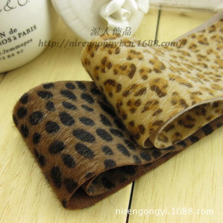 Nuevo invierno 5 * 91 cm telas de crin de grano de leopardo cinta de - Artes, artesanía y costura