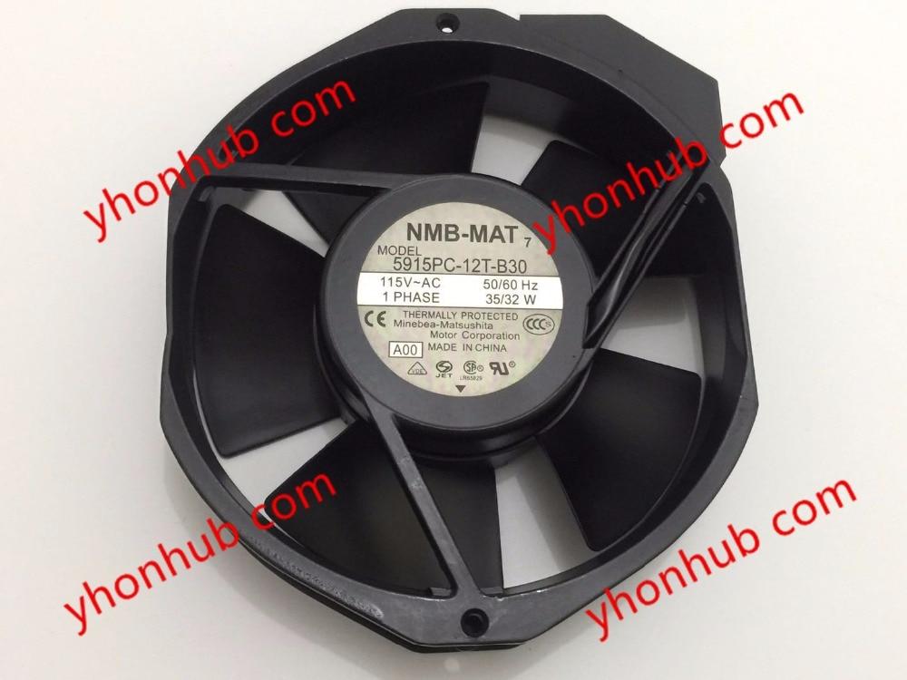 NMB-MAT 5915PC-12T-B30, A00 DC 115V 35A 2-piece 150x172x38mm Server Round fan