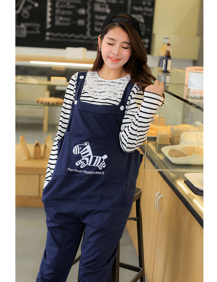 2017 Spring and Summer Maternity  Overalls  Bib Jumpsuits Clothes for Pregnant Women Cartoon Pregnant Trousers Pants SH-S130