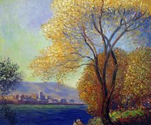 Antibes, View of Salis by Claude Monet Handpainted