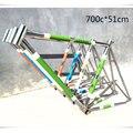 700C 51 см молибденовая стальная рама для шоссейного велосипеда  Покрытие ретро-крейсеров  фиксирующая шестерня  прямая трубка  рама для велос...