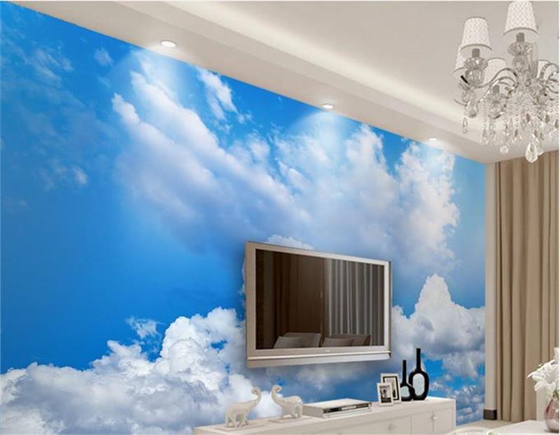 3d wallpaper custom mural non-woven photo Blue sky white clouds dream decoration painting 3d wall murals wallpaper for walls 3 d