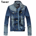 TANGNEST Men Jeans Jacket 2017 New Autumn Style Men's Motorcycle Cool Jeans Male Fashion Jeans Jacket  Casual Outwear MWJ1262