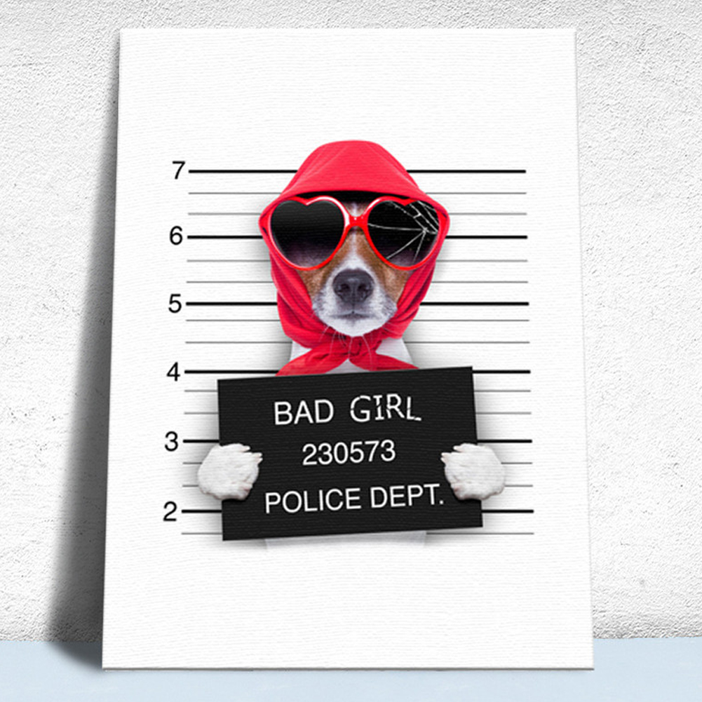 HTB1GvVTLFzqK1RjSZFvq6AB7VXaE Nordic Style Boxing Dog Canvas No Frame Art Print Painting Poster Funny Cartoon Animal Wall Pictures For Kids Room Decoration