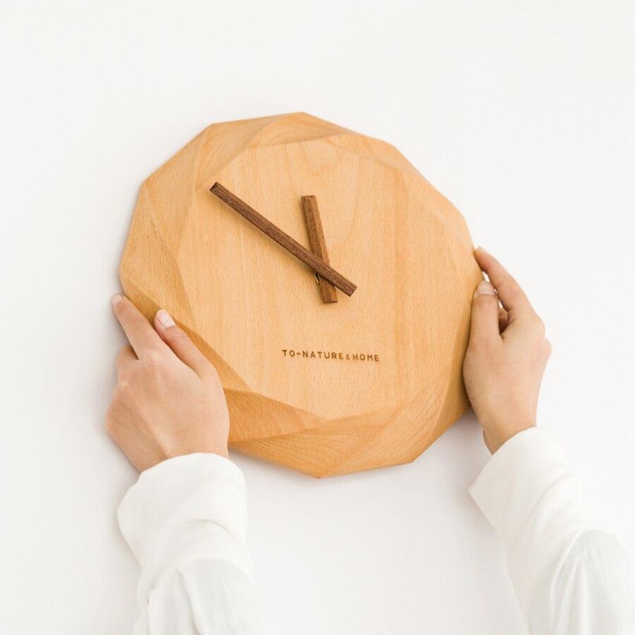 Horloge murale en bois silencieux Design moderne Vintage rustique 2019 nouvelles horloges murales en bois rétro ferme bureau cadeau 3DBGV93