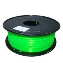 green color 3d printer filaments PLA ABS 1 75mm 3mm 1kg plastic Rubber Consumables Material MakerBot