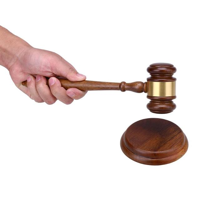 wooden handmade craft lawyer judge auction hammer gavel court