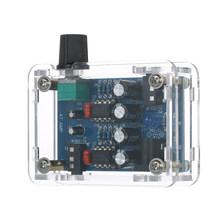 47 Amp DIY NE5532 Hi-Fi Headphone Amplifier Kit with Transparent Housing DC9V-18V with good sound quality(China)