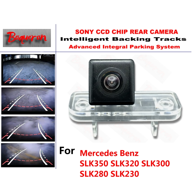 for Mercedes Benz SLK 350 320 300 280 230 CCD Car Backup Parking Camera Intelligent Tracks Dynamic Guidance Rear View Camera