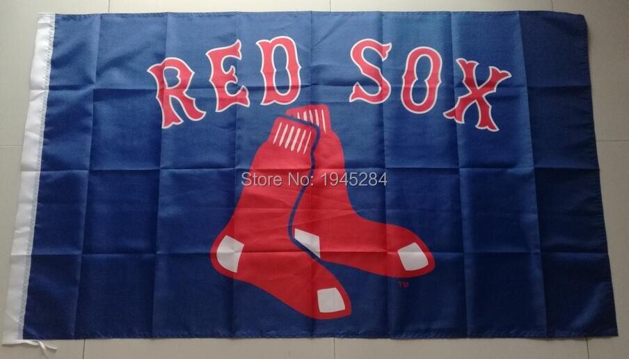 MLB Boston Red Sox Flag Banner New 3x5ft 90x150cm Polyester Flag Banner 7024, free shipping