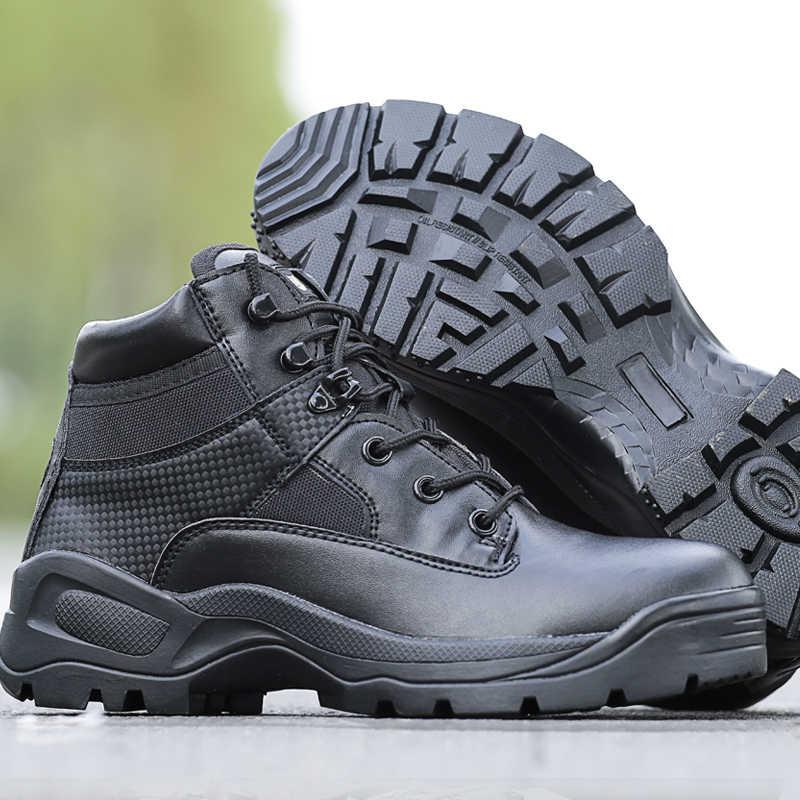 Militaire Mannen Laarzen Combat Leger Schoenen sapato masculina Zwart Outdoor Wandelschoenen Mountain Winter Desert Laarzen Chaussure Chasse