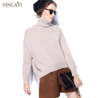 Women Cashmere Sweater Runway 2017 Winter Spring Casual 100 Pure Cashmere Turtleneck Thicken Knitted Pullover Pulls