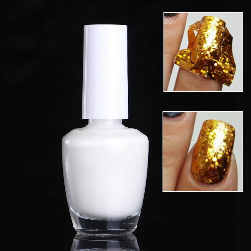 8ml Nail Foil Adhesive Glue Star Glue For Nail Foils Transfer Paper Manicure Nail Art Tool 1 sheet water transfer nail art sticker decal galaxy space 3d print manicure tips diy nail foils decorations 8178