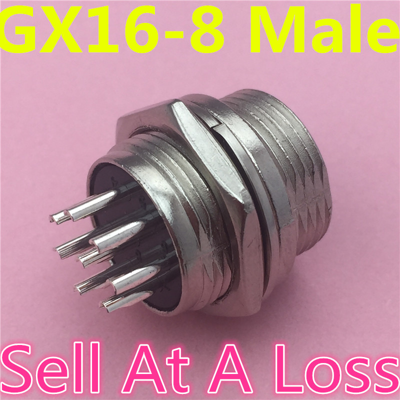 1pcs/lot L108 GX16 8 Pin Male Circular Socket Diameter 16mm Wire Panel Aviation Connector Sell At A Loss USA Belarus Ukraine 1set lot gx16 2 pin male