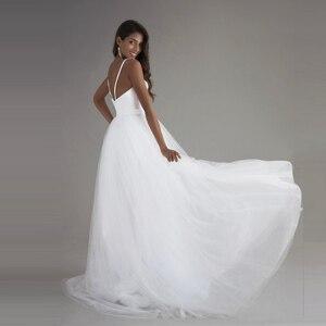 Image 5 - Spaghetti bretelles Robe de mariée plage 2018 Vintage dentelle haut Sexy ivoire robes de mariée chine sur mesure Robe de mariée