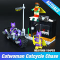 Lepin 07058 Nuevo Genuino de la Serie de Películas de Batman El Catwoman Motocicleta Perseguir Set 70902 Bloques de Construcción Ladrillos de Juguetes Educativos