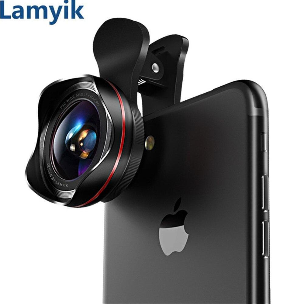 Lens for Mobile Smartphone Lens No Distortion Camera Profession HD 0.6X Wide Angle & 15X Super Macro Lens 180 Degree Fisheye Kit