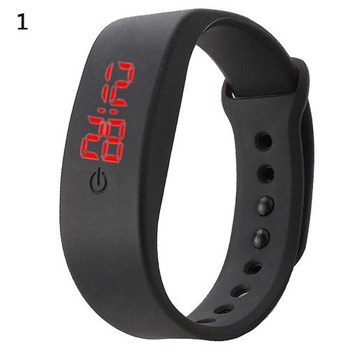 2018 Popular Brand Luxury Women Men Silicone Band Strap Digital LED Display Bracelet Wrist Sports Watch