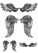 Angel Wings Large Temporary Tattoo Sticker Waterproof Women Girls Back Chest Arm Fake Tattoos 15X11cm 4pcs lot waterproof temporary tattoos sticker full arm mechanical pattern tattoos applique arm full arm tattoos sticker 48 x17