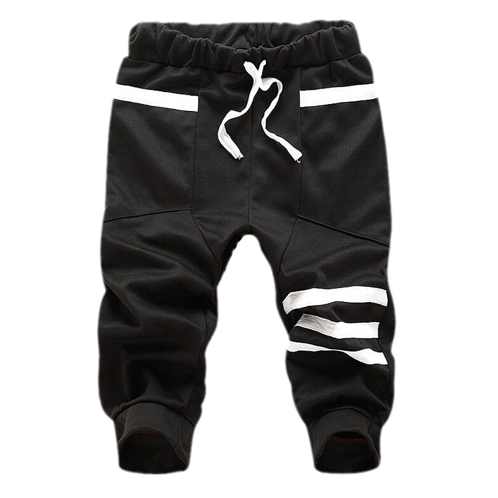 MALL New Fashion mens cropped sweatpants cotton Men hip hop Harem Summer shorts Black Dark Blue Gray Sky Blue M L XL XXL XXXL
