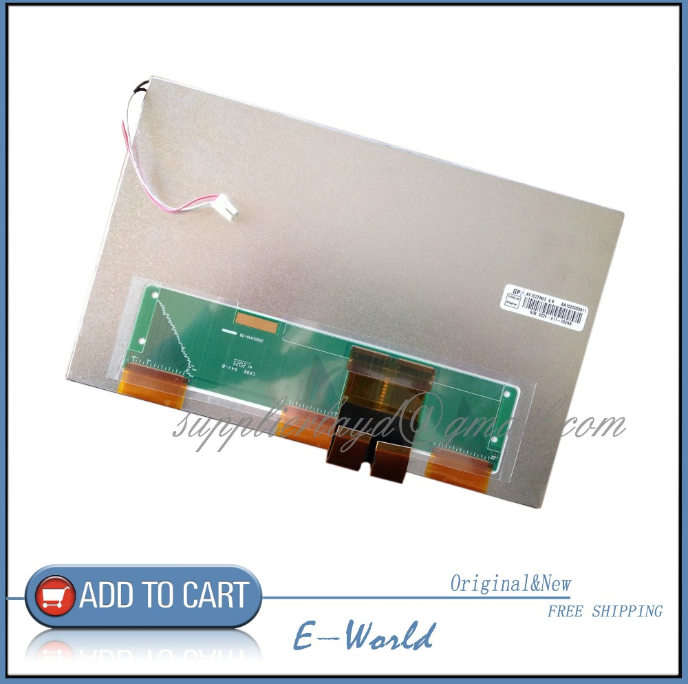 Original 10.2inch LCD screen AT102TN03 V.9 AT102TN03 V9 for Car DVD navigation industrial screen free shipping