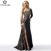 U-SWEAR Women Slit Mermaid Formal Maxi Womens Dress Prom Gown Bridemaid Party Lace Pencil Dress Ceremony Vestidos Verano 2020(China)