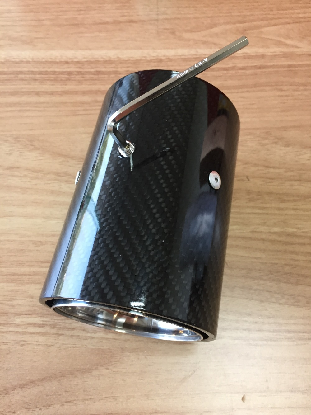 1 PIECE NEW M Performance carbon Exhaust Tip for BMW M3 M4 M5 2012 car styling Akrapovic car exhaust muffler nozzle tip in Mufflers from Automobiles Motorcycles