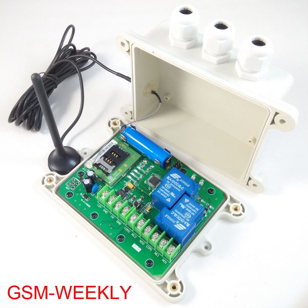 Gsm Remote Relay Switch 16 Segment Timer For Automatically Output Working Battery On Board For Power Off Alarm