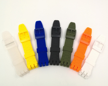 Color silicone strap for Swatch SUSB400 SUSR401 concavity 21mm watch accessories swatch watch original color series quartz watch suon115