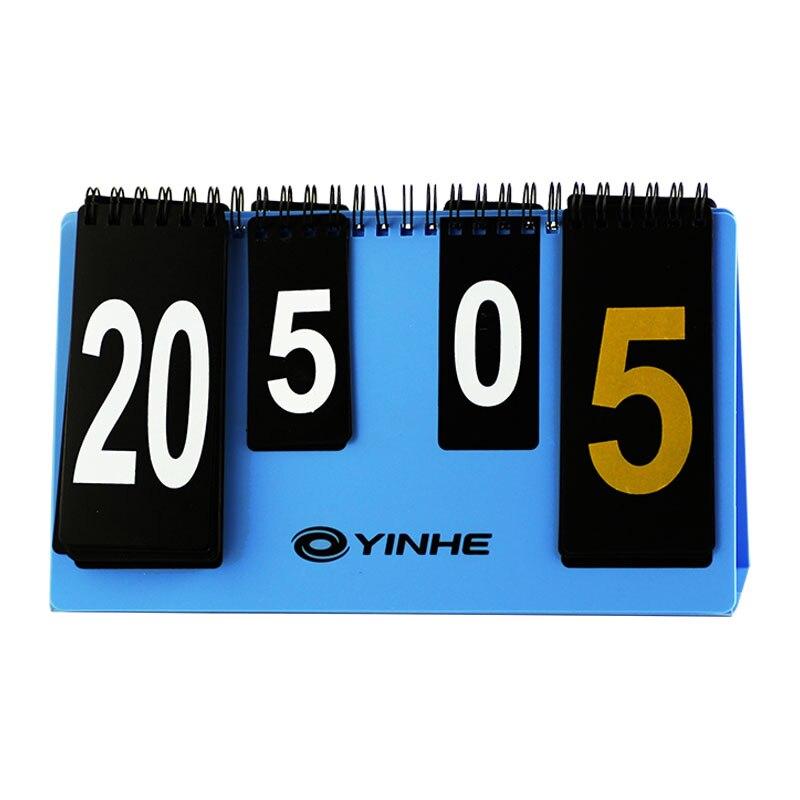 YINHE Galaxy Mini Standard Scoreboard (Portable, Light) For Table Tennis Games Portable Ping Pong Game Scorecard