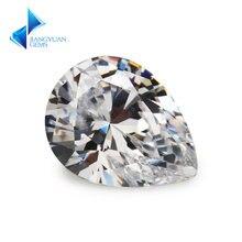 50 шт 2x3 ~ 13x18 мм грушевидной формы 5a белый cz камень Искусственные