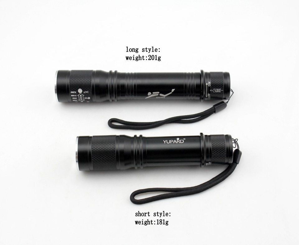 XM-L2 tactical flashlight powerful waterproof underwater scuba diving zoom lantern fill light torch T6 white light LED camping