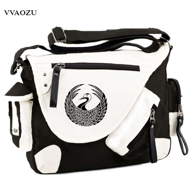 Touken Ranbu Online Anime School Bags Mikazuki Munechika Cospaly Canvas Messenger Bags Cartoon Cross Body Bags Schoolbags toukenranbu tsurumaru kuninaga cosplay shoes touken ranbu anime boots